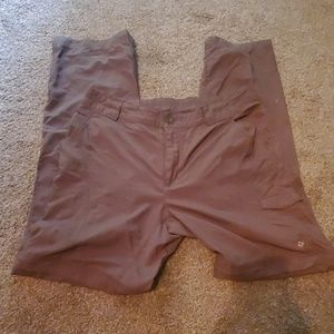 Columbia zip off pants. Womans 10